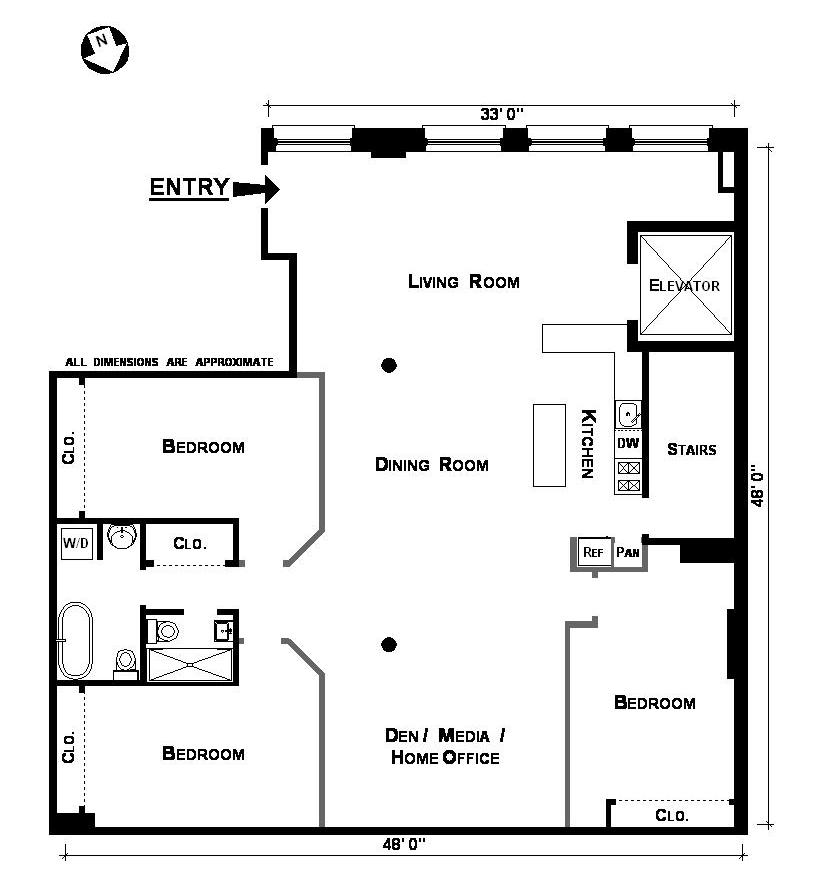 Lofts how many real bedrooms the sargent report tony for Floor plans manhattan apartment buildings